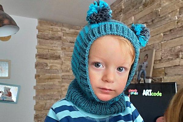 Pletení detská čiapka - kukla, postup