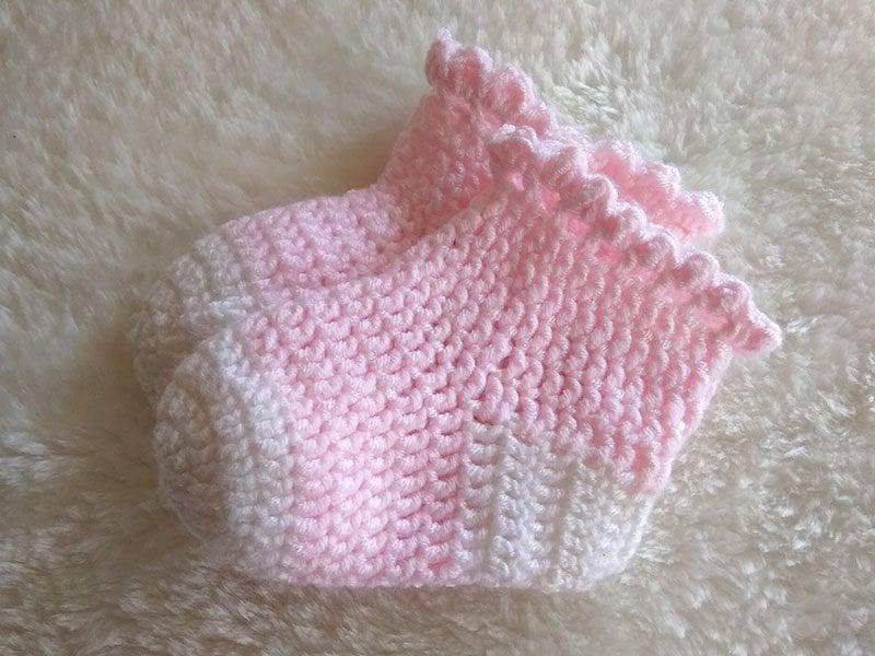 Postup na háčkované ponožky pre bábätko