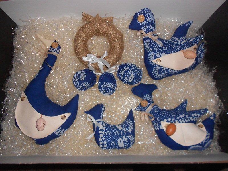 Veľkonočné dekorácie z modrotlače