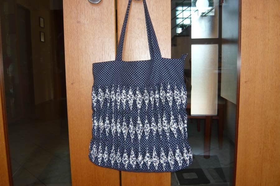 Nákupná taška z modrotlače