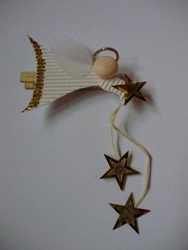 Vianočný anjelik na štipci