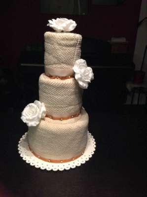 Svadobná uteráková torta
