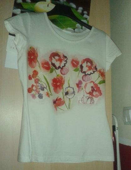 Vynovené tričko - dekupáž