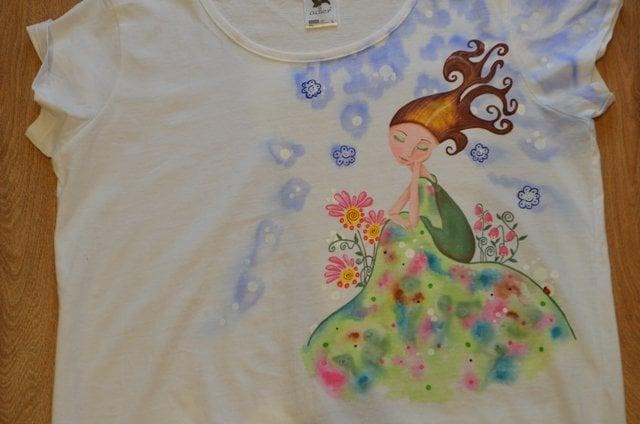 Maľované dámske tričko