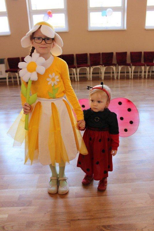 Karnevalové kostýmy - lienka a margarétka