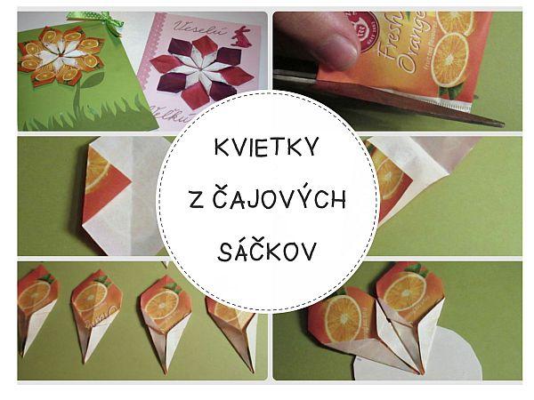 e90f201c6 Autor: >Fotopostup na veľkonočné pozdravy s kvietkami z čajových sáčkov