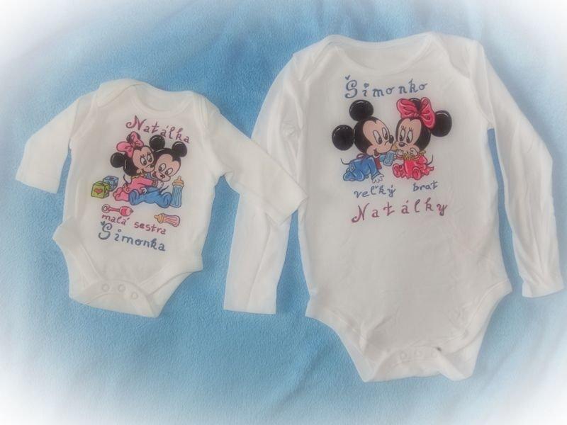 Ručne maľované body Micky Mouse a Minnie