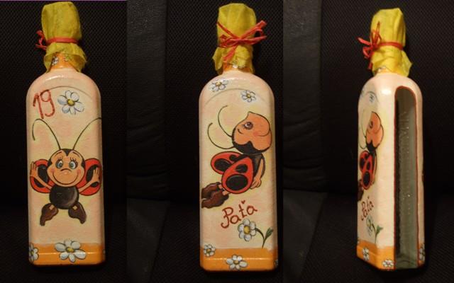 Veselé lienky na fľašiach | violeta