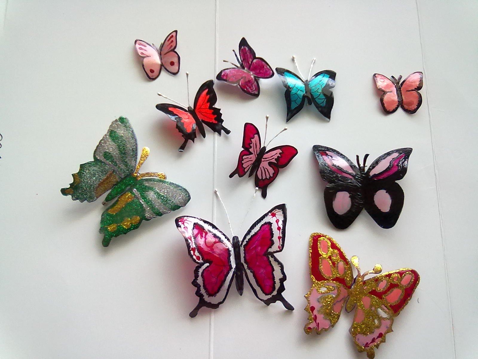 Бабочки с пластиковых бутылок своими руками