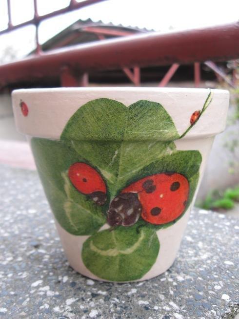Kvetináč s lienkou | Elina