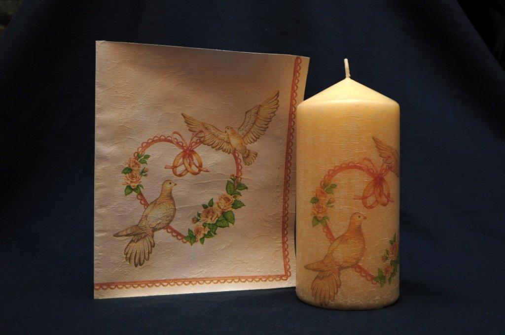 Svadobná sviečka s pozdravom | barbora27