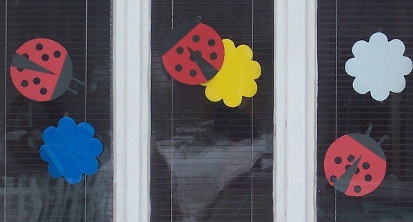 Papierové lienky na okno do detskej izby | Stelička
