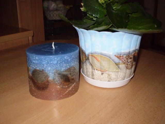 Nová sviečka zo starých - servítková technika | cecil