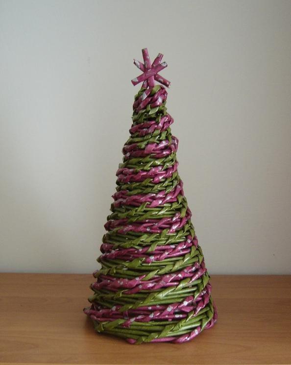 421e6f1a3 Vianočný stromček, Pletenie z pedigu | Artmama.sk