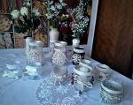 recy svietniky a vázičky vo vintage / natur štýle
