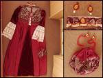 renesančné šaty, pompadúrka, náhrdelník a náušnice