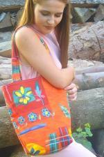 farebná nákupná taška