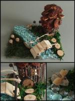 jesenné tvorenie-domček pri potôčiku