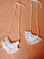 Macrame šperk - náhrdelník