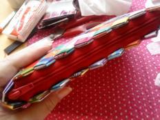 Môj spôsob prišívania zipsu na papierovú kabelku. - foto postup