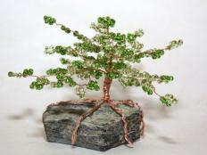 Fotopostup na korálkový stromček - foto postup