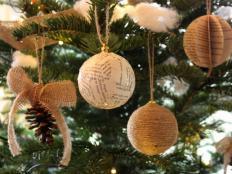 Fotopostupy na jednoduché vianočné ozdoby - foto postup