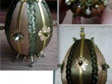 patchworkové vajíčko - foto postup