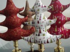 Fotopostup na dekoračné vianočné stromčeky - foto postup