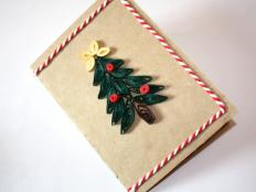 Fotopostup na vianočny pozdrav - Quilling - foto postup