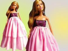 Šaty pre Barbie - foto postup