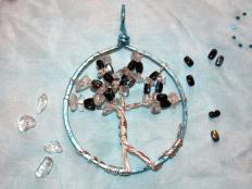 Fotopostup na korálkový stromček inak - foto postup