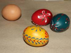 Fotopostup na vyfúknutie vajíčka - foto postup