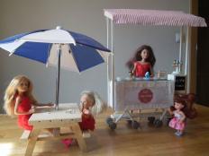 Zmrzlináreň pre Barbínky/ Barbie ice cream stand - foto postup