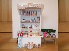 Vianočný stánok pre bábiky - foto postup