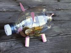 Prasiatko pokladnička z PET fľaše - foto postup