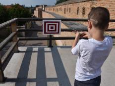Kuša a terč pre malých rytierov - foto postup