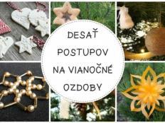 Desať fotopostupov na originálne ozdoby na vianočný stromček - foto postup