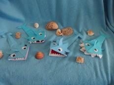papierový žralok - foto postup