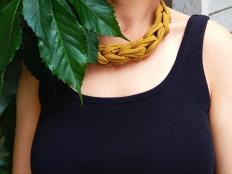 Náhrdelník alebo čelenka zo starého trička - foto postup