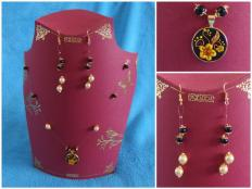 Jednoduchý náhrdelník a ušničky  - foto postup