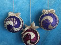 falošný patchwork vianočné gule-špirála - foto postup