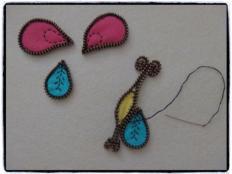 motýľ z flisu a zipsu - foto postup