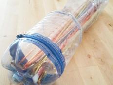 Obal na ihlice z plastových fliaš - foto postup