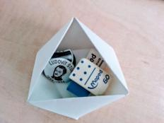 Ako vyrobiť improvizované papierové misky bez lepenia - foto postup
