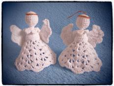 Háčkovaní anjelici - foto postup