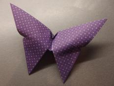 Origami motýľa  - foto postup
