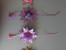 Hviezdičky z čajových sáčkov - foto postup