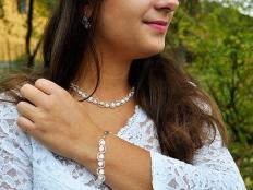 Jemný svadobný náhrdelník - foto postup