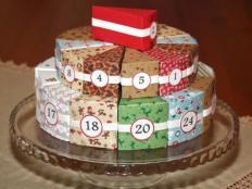Fotopostup na adventný kalendár v tvare torty - foto postup