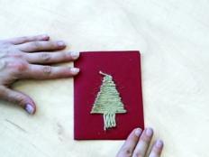 Video: Postup na vianočný pozdrav so stromčekom zo špagátu - foto postup